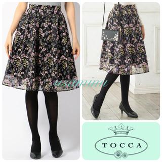 トッカ(TOCCA)の【新品】トッカ 刺繍スカート(ひざ丈スカート)