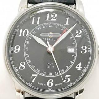 ツェッペリン(ZEPPELIN)のZEPPELIN 腕時計 LZ127 メンズ 革ベルト 黒(腕時計(アナログ))