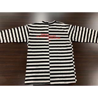 ハーフマン(HALFMAN)のHALFMAN ハーフマン ボーダーロンT Mサイズ 新品未使用(Tシャツ/カットソー(七分/長袖))