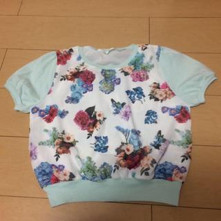 ミスティウーマン(mysty woman)の花柄トップス(Tシャツ(半袖/袖なし))