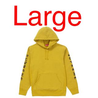 シュプリーム(Supreme)のSUPREME Gradient Sleeve Hooded Gold L(パーカー)