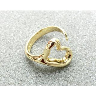 ティファニー(Tiffany & Co.)の雪様専用ティファニー オープンハート リング 指輪 750 K18 約6.5g(リング(指輪))