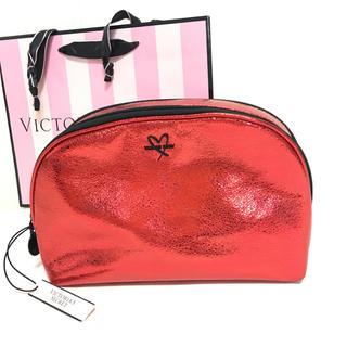 ヴィクトリアズシークレット(Victoria's Secret)のビクトリアシークレットの新作メタリックレッド(ポーチ)