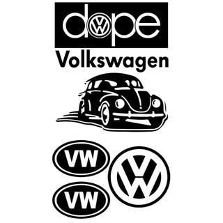フォルクスワーゲン(Volkswagen)のステッカー フォルクスワーゲン デカール セット 屋外5年(車外アクセサリ)