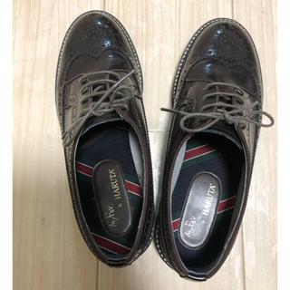 ハルタ(HARUTA)の美品試しに一度履いたのみ‼️ハルタ×チャイルドウーマンウィングチップローファー(ローファー/革靴)