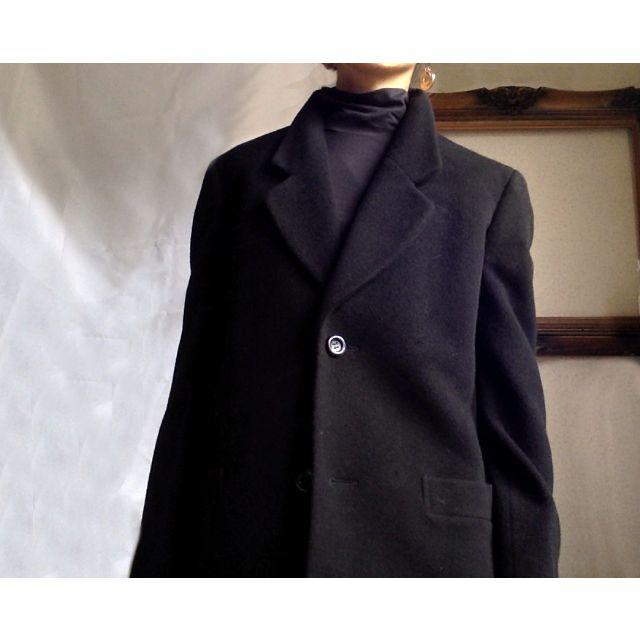 BURBERRY(バーバリー)の美品 Burberry バーバーリー 三陽商会 ヴィンテージ カシミヤ混 レディースのジャケット/アウター(ロングコート)の商品写真