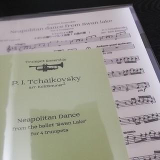 【楽譜】トランペットアンサンブル ナポリの踊り バレエ音楽《白鳥の湖》より(トランペット)