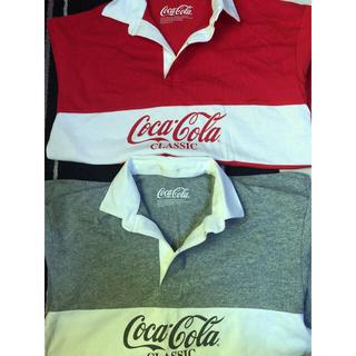 ジーユー(GU)のコカコーラロングTシャツメンズSサイズ2枚セット(Tシャツ/カットソー(七分/長袖))