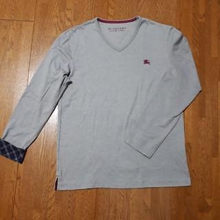 バーバリー(BURBERRY)の◆BURBERRY ◆ Vネック・ロングTシャツ◆サイズM(Tシャツ/カットソー(七分/長袖))