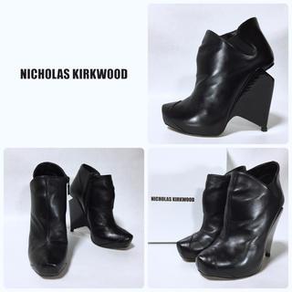 ニコラスカークウッド(Nicholas Kirkwood)の■リフト新品 14.2万 ニコラスカークウッド サイドゴアブーツ 37 23.5(ブーツ)