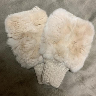 ユナイテッドアローズ(UNITED ARROWS)のUWBCミンクフィンガーレスグローブ(手袋)