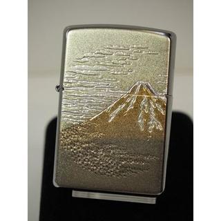 ジッポー(ZIPPO)のZippo 電鋳板 富士山(伝統和柄)フジ 世界遺産 #200(タバコグッズ)