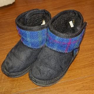 シマムラ(しまむら)のムートンブーツ キッズ ハリスツイード 15センチ(ブーツ)