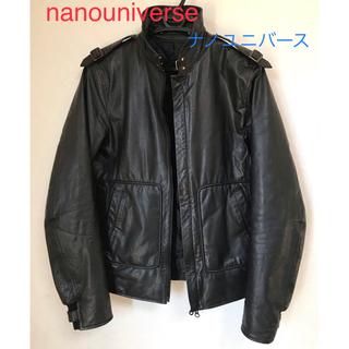 バークタンネイジ(BARK TANNAGE)の【Bark Tannage】nanouniverse レザー ジャケット 黒 L(レザージャケット)