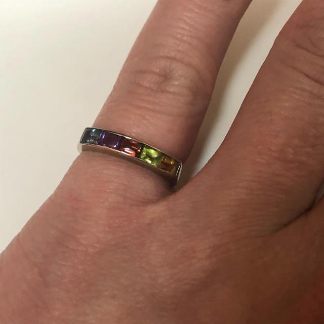 ★豪華★ K18WG マルチカラー リング レディースのアクセサリー(リング(指輪))の商品写真