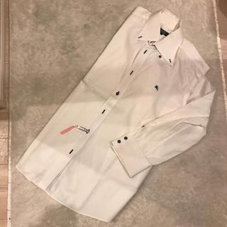 バーバリーブラックレーベル(BURBERRY BLACK LABEL)の正規品 バーバリー ロゴ ホースマーク シャツ ホワイト(シャツ)