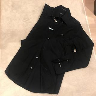 バーバリーブラックレーベル(BURBERRY BLACK LABEL)の正規品 バーバリー ロゴ ホースマーク シャツ ブラック(シャツ)