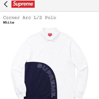 シュプリーム(Supreme)の新品 M Supreme Corner Arc L/S Polo 白(ポロシャツ)