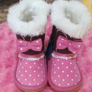 ディズニー(Disney)の【新品未使用】ディズニー ミニーちゃん ブーツ 靴 ムートンブーツ 13センチ(ブーツ)