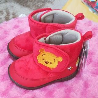 ディズニー(Disney)の【新品未使用】ディズニー プーさん ブーツ 靴 13.5センチ(ブーツ)