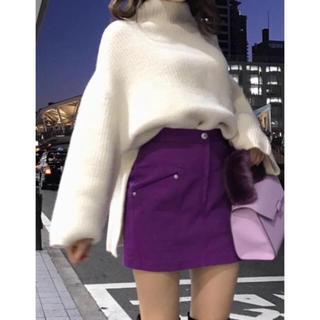 スナイデル(snidel)の❤️完売品❤️ スナイデル タイトスカートショートパンツ 紫 今季 ♡(ミニスカート)