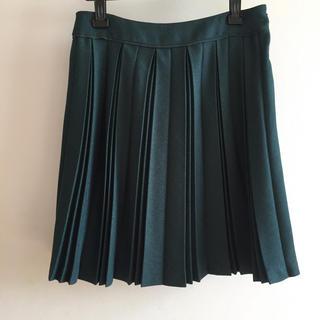 ベルメゾン(ベルメゾン)のプリーツスカート 深緑 ダークグリーン(ひざ丈スカート)