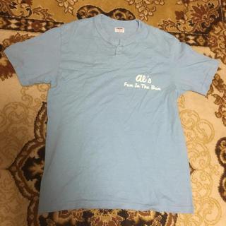 ダブルワークス(DUBBLE WORKS)のダブルワークス ヘンリー半袖Tシャツ al's 水色(Tシャツ/カットソー(半袖/袖なし))