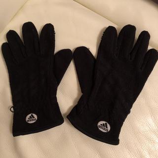 アディダス(adidas)の黒フリース手袋 adidas(手袋)