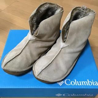 コロンビア(Columbia)のコロンビア  ムートン ショートブーツ  ベージュ  25㎝(ブーツ)