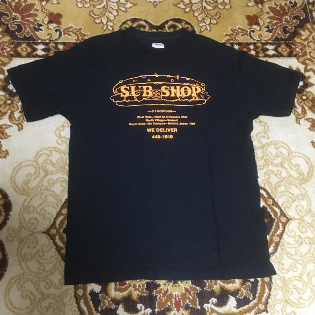 DUBBLE WORKS(ダブルワークス)のダブルワークス SUB SHOP半袖Tシャツ ブラック メンズのトップス(Tシャツ/カットソー(半袖/袖なし))の商品写真