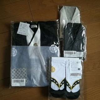 ★新品★袴ロンパース+靴下セット 白銀 90