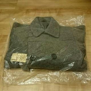ムジルシリョウヒン(MUJI (無印良品))の無印良品 ウール混ニット ショートピーコート 紳士 チャコールグレー S(ピーコート)