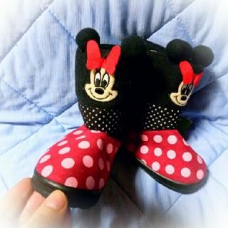 ディズニー(Disney)の14ミニーちゃんテープブーツ(ブーツ)
