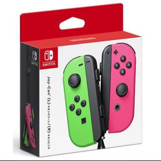ニンテンドースイッチ(Nintendo Switch)のJoy-Con(L) ネオングリーン/(R) ネオンピンク(家庭用ゲーム機本体)