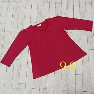アカチャンホンポ(アカチャンホンポ)のロンT ワインレッド 90(Tシャツ/カットソー)