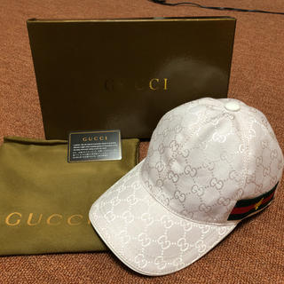 online store a175d e2733 GUCCI キャップ ホワイト