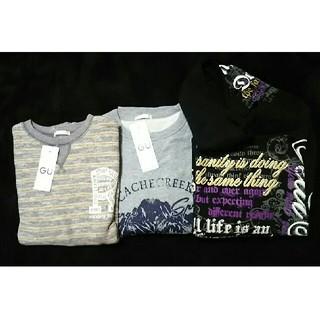ジーユー(GU)の男児トレーナー、パーカー3点セット 新品(Tシャツ/カットソー)
