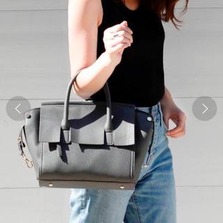 プレーンクロージング(PLAIN CLOTHING)のPLAIN CLOTHING フラップハンドバッグ ショルダーバッグ グレー(ハンドバッグ)