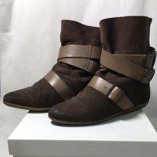 ナンバージュウイチ(n゜11)のn°11 3ベルト ショート ブーツ サイズ36(ブーツ)