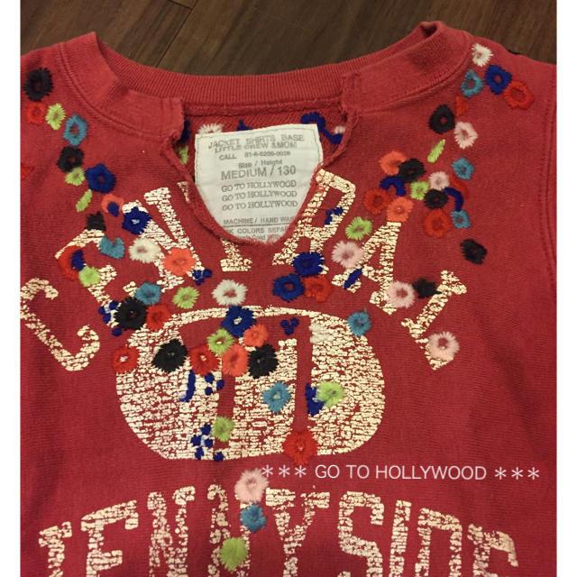 GO TO HOLLYWOOD(ゴートゥーハリウッド)のGO TO HOLLYWOOD 花刺繍 チュニックワンピース  130 FITH キッズ/ベビー/マタニティのキッズ服女の子用(90cm~)(ワンピース)の商品写真