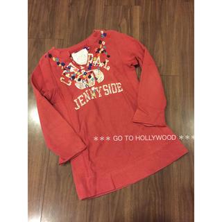 ゴートゥーハリウッド(GO TO HOLLYWOOD)のGO TO HOLLYWOOD 花刺繍 チュニックワンピース  130 FITH(ワンピース)