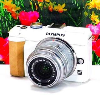 オリンパス(OLYMPUS)の❤️大人気ホワイト❤️✨WiFiスマホ❤️✨オリンパス E-PL1S(デジタル一眼)