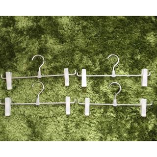 ムジルシリョウヒン(MUJI (無印良品))の無印良品スカートハンガー4本セット(押し入れ収納/ハンガー)