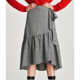 ザラ(ZARA)のZARA*ラップスタイルミディ丈スカート*Sサイズ(ロングスカート)