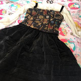 ジェーンマープル(JaneMarple)のロイヤルクラウンビスチェ&別珍スカートセット(セット/コーデ)