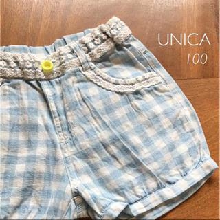 ユニカ(UNICA)のUNICA ギンガムチェック ショートパンツ(パンツ/スパッツ)