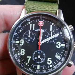 ウェンガー(Wenger)のWenger コマンド クロノグラフ 風防傷あり(腕時計(アナログ))