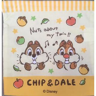 チップアンドデール(チップ&デール)のチップ&デール マチ付き巾着 給食袋 ディズニー(ランチボックス巾着)