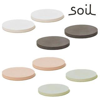 新品☆soil 珪藻土 コースター/ラージサークル ピンク4枚セット