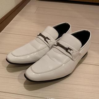 アールグレー様専用●新郎シューズ 白 エナメル 27cm(ローファー/革靴)